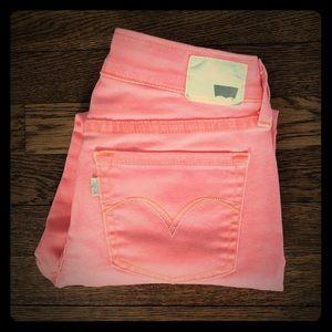Levi's coral jean Capri leggings